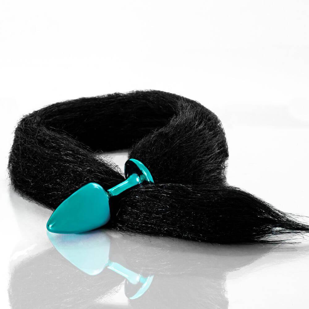Plug Azul com Rabo Preto
